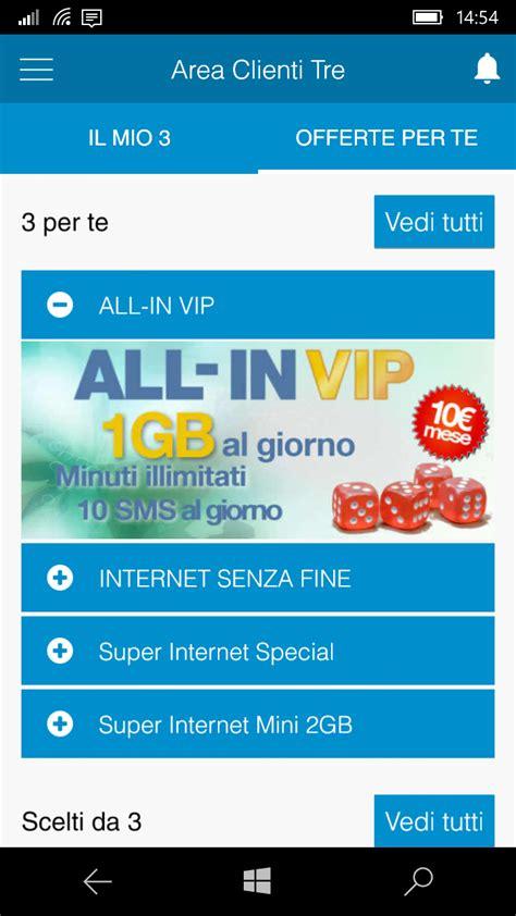 area clienti l app area clienti 3 per windows phone cambia di nuovo