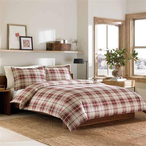 red flannel comforter eddie bauer montlake plaid red flannel 3 piece duvet cover