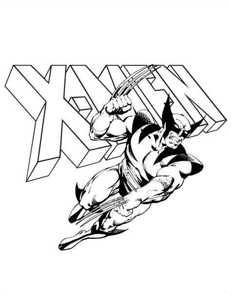Superhero Coloring Pages Coloring Pages Free Premium Xmen Coloring Pages