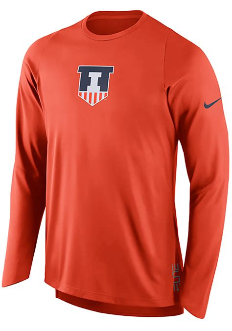 Orange Nike Elite T Shirt nike illinois fighting illini orange elite shooter