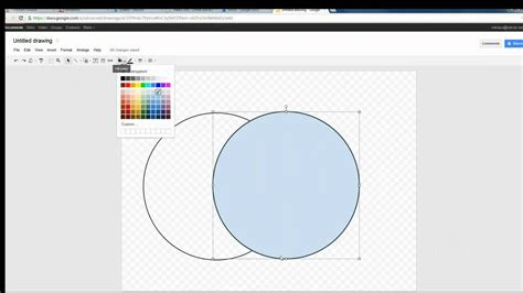 Creating A Venn Diagram In Google Draw Youtube Venn Diagram Template Docs