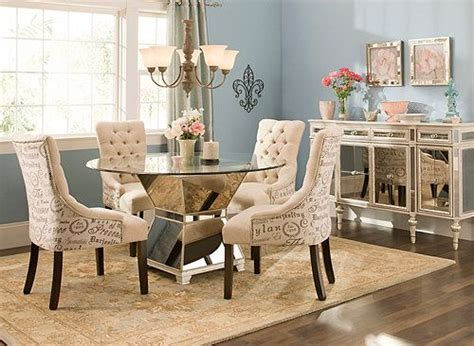 mirage 5 pc 48 quot glass dining set dining sets raymour