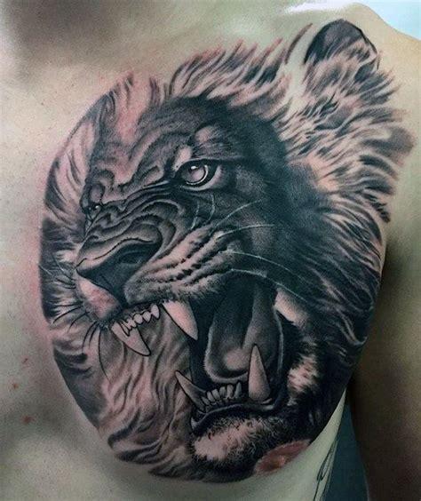 3d lion tattoo designs 70 chest designs for fierce animal ink