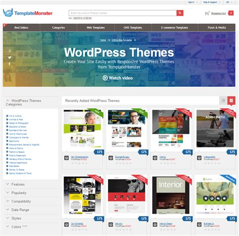 graphic design themes wordpress templatemonster giveaway of any 10 wordpress themes