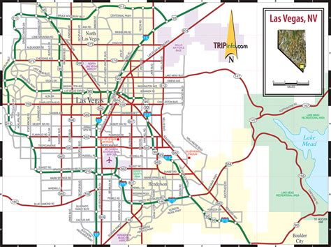map las vegas las vegas nv map