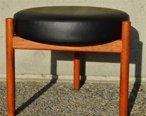 round ottoman stool round teak ottoman or stool by spottrup with tripod base