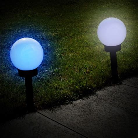 solar globe light solar colour change globe stake light