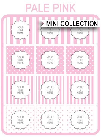 Free Pink Baby Shower Printable Templates Baby Shower Stickers Template