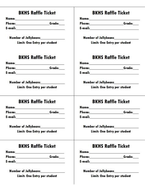 50 free raffle movie ticket templates templatehub