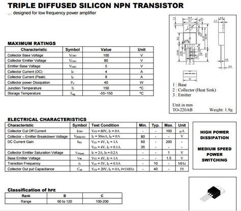 transistor c828 equivalent datasheet transistor a564 28 images hi tec transistor 13003 to92 b8h17 transistor c2383