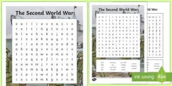 World War 2 Search The Second World War Word Search Cfe Social Studies