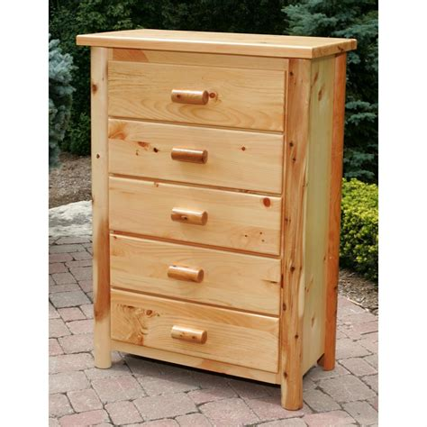 5 Dresser Drawer by Moon Valley Cedar Works 5 Drawer Dresser 228618 Bedroom