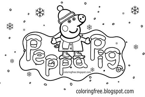 peppa pig winter coloring pages free coloring pages printable pictures to color kids