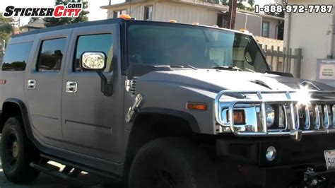 jeep hummer matte black hummer h2 brushed steel vinyl car wrap youtube