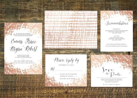 Where To Find Wedding Invitations by Gold Foil Wedding Invitation Suite Set Of 25