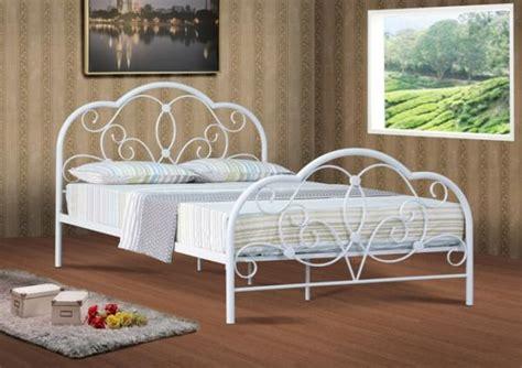 4ft Metal Bed Frame 4ft 4ft6 5ft White Metal Bed Frame Bedstead Ebay