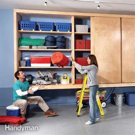 Garage Shelving Cabinets Diy Garage Cabinet Family Handyman