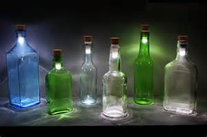 bottle lights turn a wine bottle into a l with this led cork