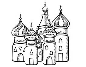 saint basil s cathedral from moscu coloring page