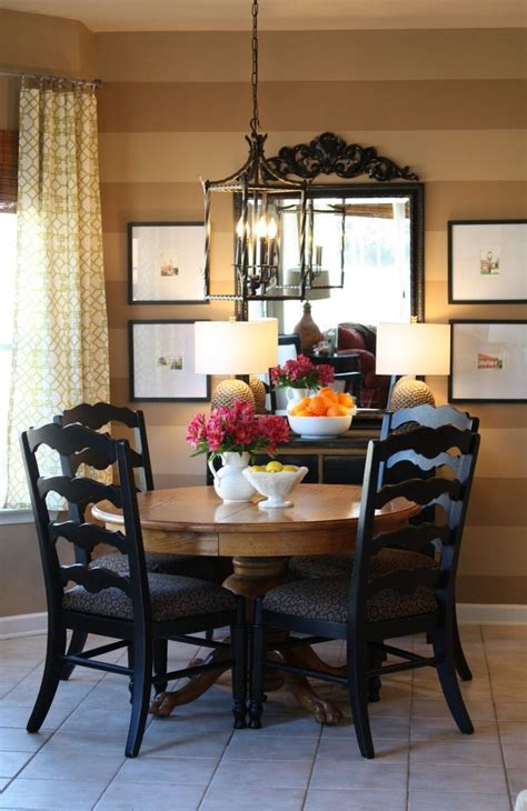 Small Eclectic Dining Room I The Wooden Table With Black Chairs Makes An