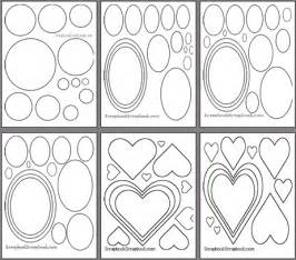 templates for scrapbooking to print scrapbook shape templates to print