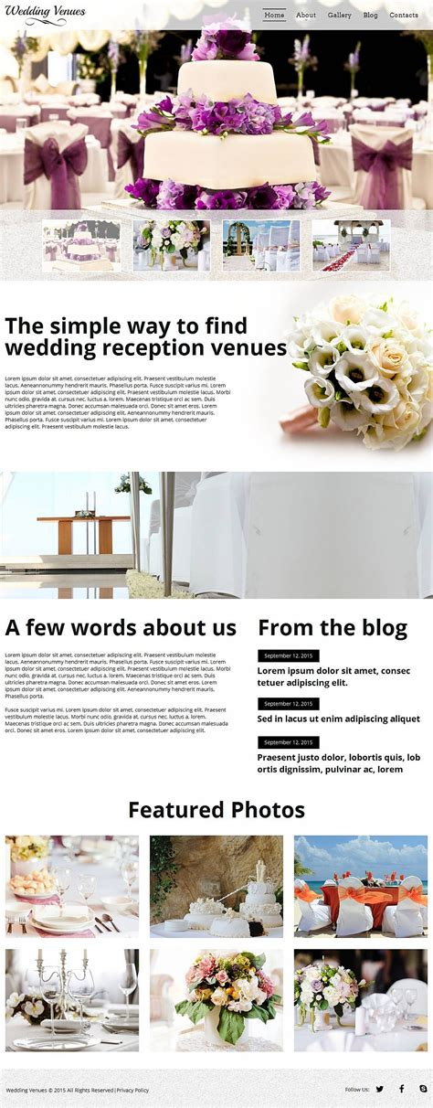 Wedding Cms by Wedding Venues Moto Cms Html Template 53059