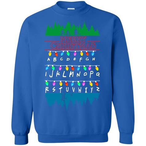 stranger  upside  merry christmas ugly sweater rockatee