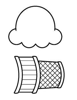 empty ice cream cone coloring page ice cream cone b w outline many uses by beg borrow