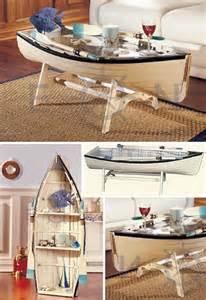 Ideas For Nautical Coffee Table Design The Table Features Detachable Oars For Those Really Rainy Days