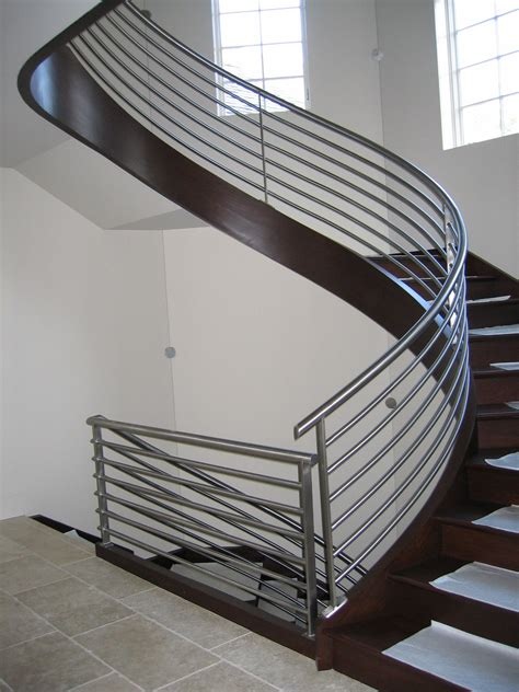 Staircase Banisters Ideas Curved Stairs Design Decosee Com
