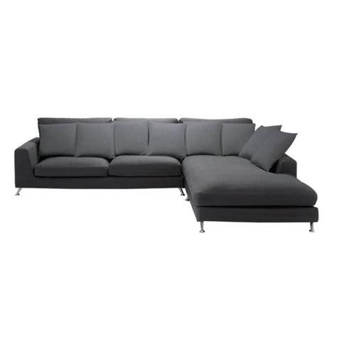 deep corner sofa 6 seat corner sofa in slate grey city city maisons du