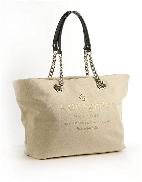 Kate Spade Kate Spade Basel Coal Bag by Kate Spade East Broadway Small Coal Tote Bag In Beige