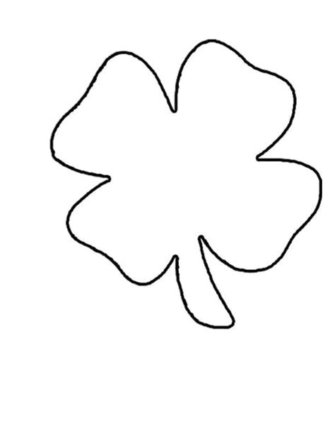 four leaf clover template 4 leaf clover pattern clipart best