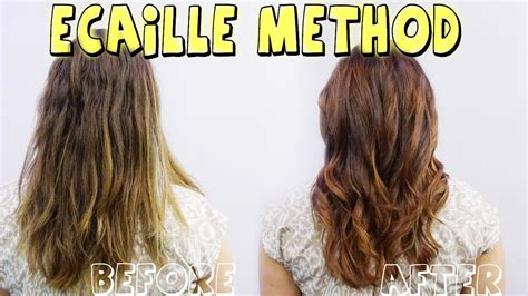 how to do ecaille hair color ecaille method and color correction tortoise shell hair