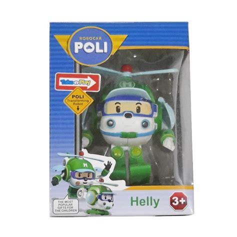 jual robocar poli helly robot helicopter mainan anak
