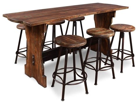 Indoor Bar Table Sunset Trading 7 Cabo Counter Height Pub Table Set Rustic Indoor Pub And Bistro Tables
