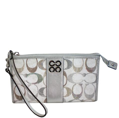 Snapshot Marc Platinum With Box Nh27 snap n zip fashion accessories coach embellished signature c zippy platinum