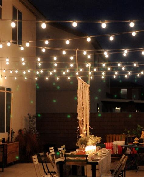 how to light up a backyard party outdoor magic how to decorate with fairy lights