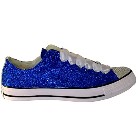 blue sparkly shoes for sparkly blue glitter converse all wedding
