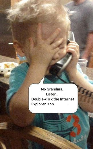 Grandma Meme Computer - no grandma double click on the daily vowel movements