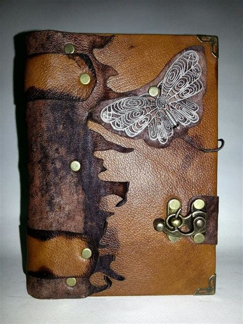 Handmade Leather Sketchbooks - handmade steunk leather journal notebook sketchbook