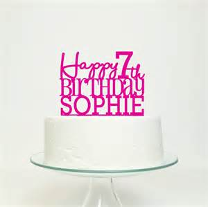 birthday cake toppers personalised happy birthday cake topper by miss cake notonthehighstreet