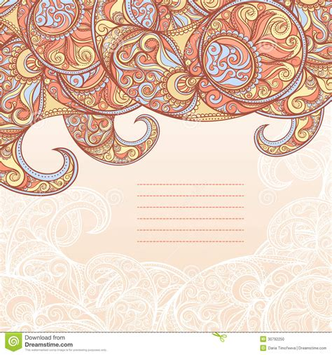 indian pattern frame frame with paisley pattern stock vector image of