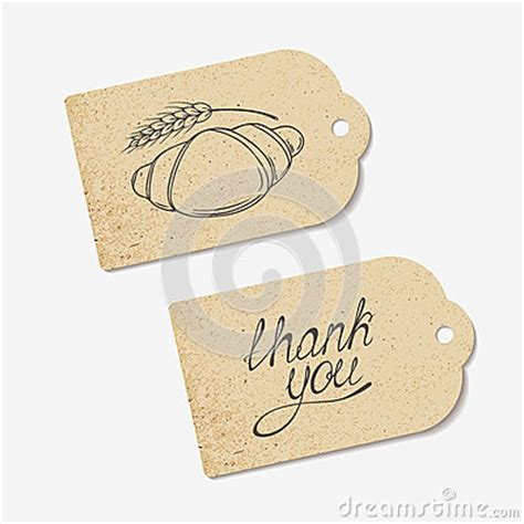 Craft Paper Tags - craft paper tags with thank you lettering and stock