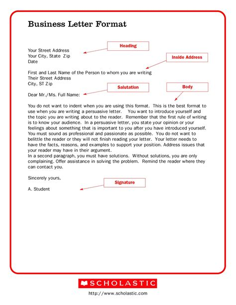 template letters free printable business letter template form generic