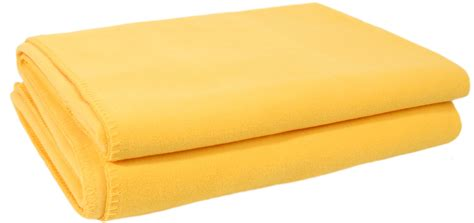 Decke Fleece by Decke Soft Fleece Goldgelb Interismo Onlineshop