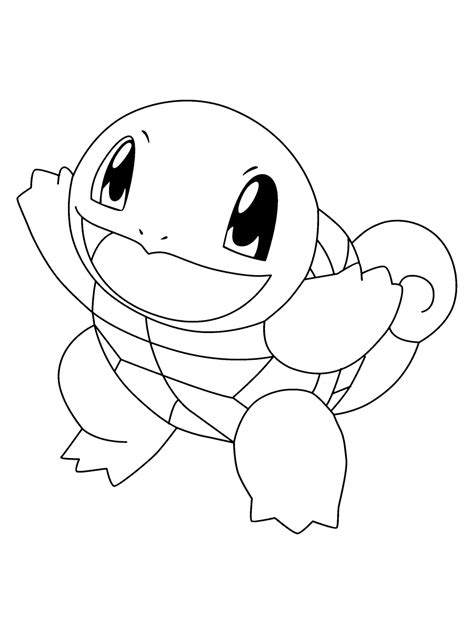 pokemon coloring pages wartortle squirtle coloring page az coloring pages