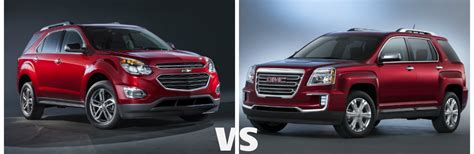 gmc terrain or chevy equinox gmc terrain vs chevy equinox autos post