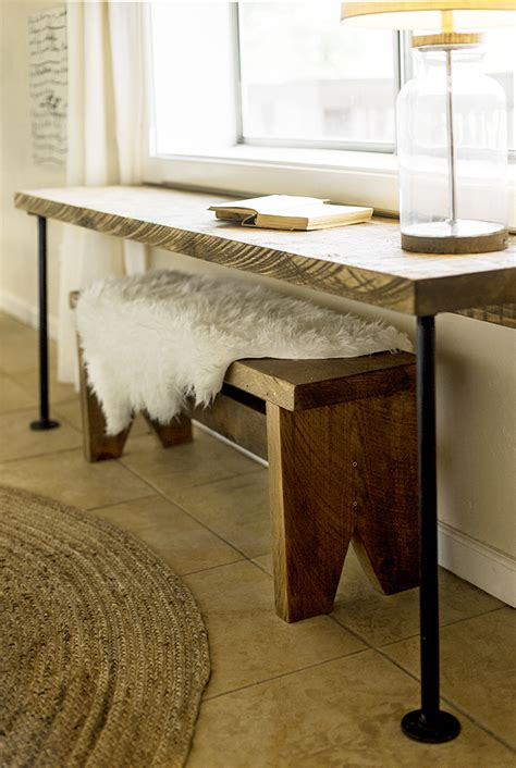 rustic desk and bench diy pipe leg desk rustic wood bench tutorial sue