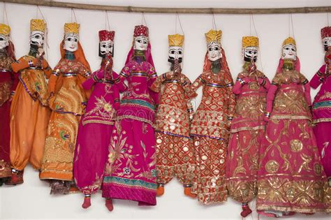 colorful handmade puppets india stock photo image 58961654